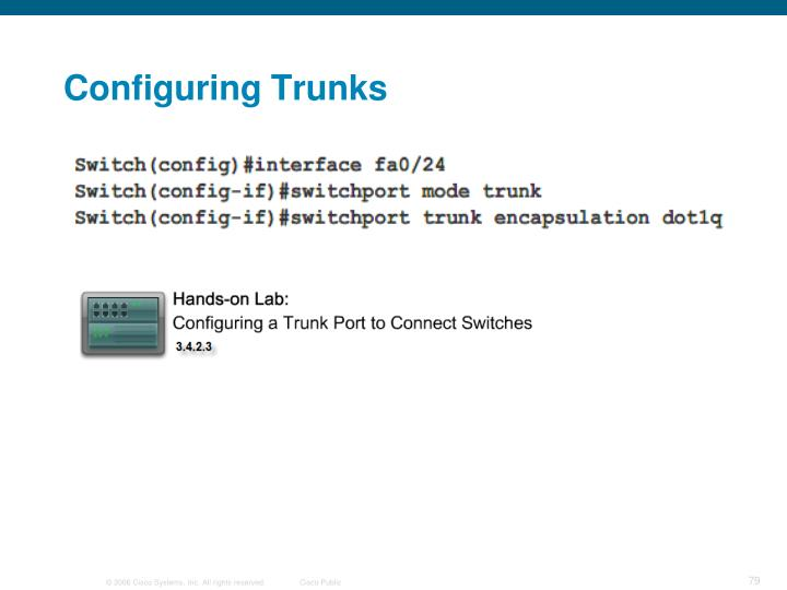 Configuring Trunks