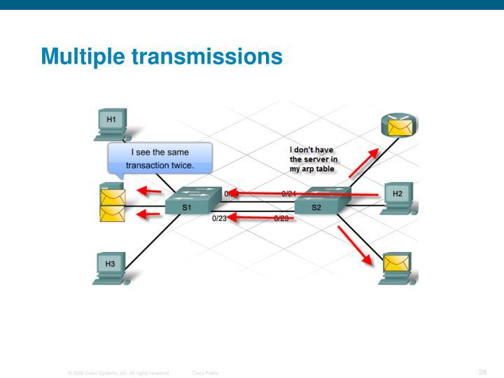Multiple transmissions