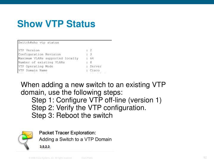 Show VTP Status