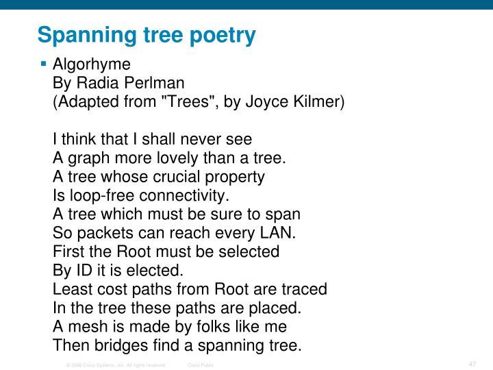 Spanning tree poetry