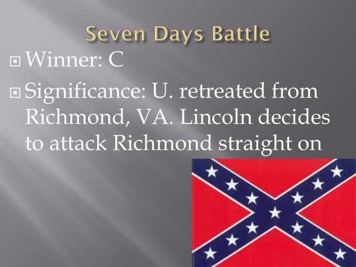 Seven Days Battle