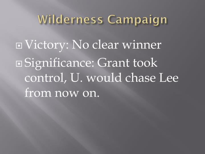Wilderness Campaign