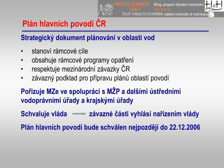 Plán hlavních povodí ČR