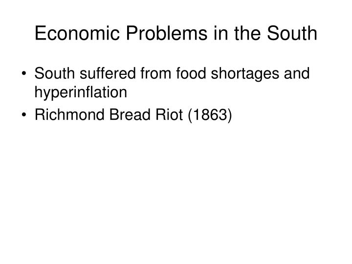 Economic Problems in the South