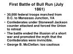 first battle of bull run july 1861