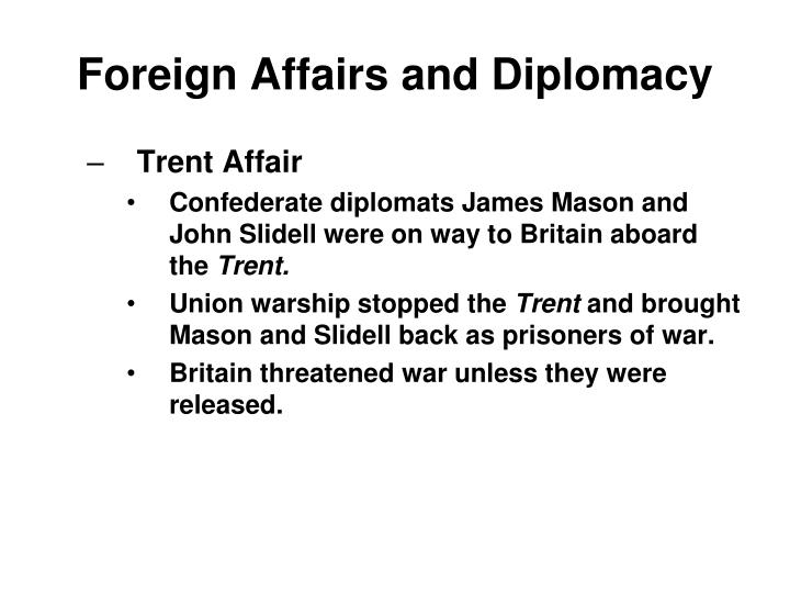 Foreign Affairs and Diplomacy