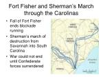 fort fisher and sherman s march through the carolinas