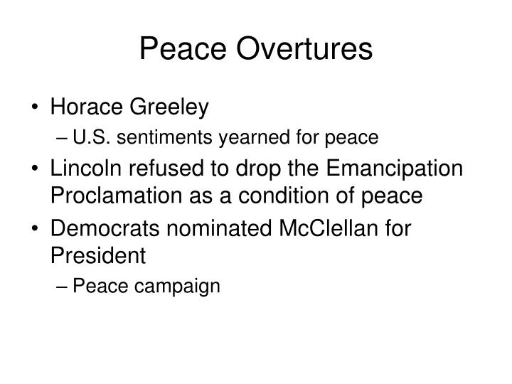 Peace Overtures