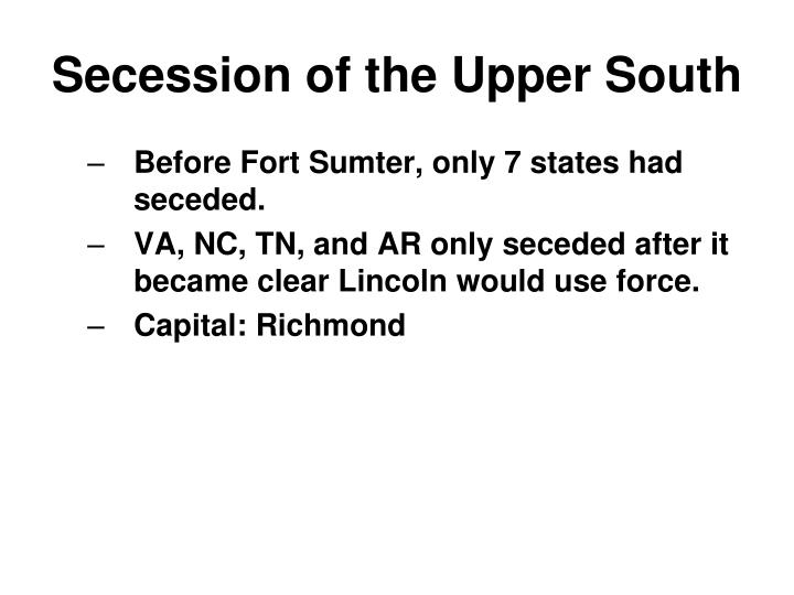 Secession of the Upper South