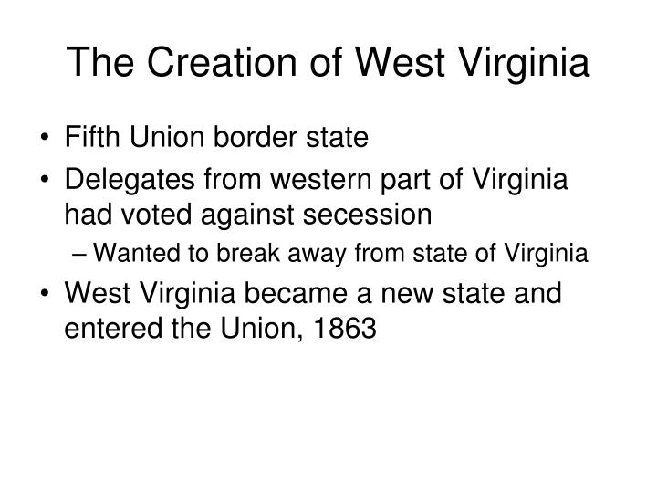 The Creation of West Virginia