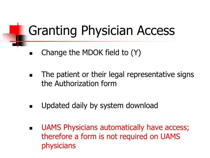 Granting Physician Access