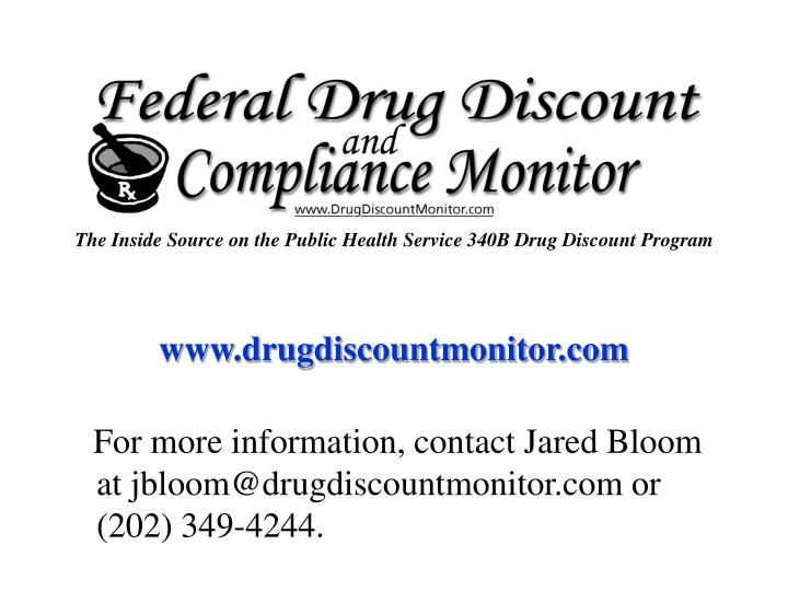 The Inside Source on the Public Health Service 340B Drug Discount Program