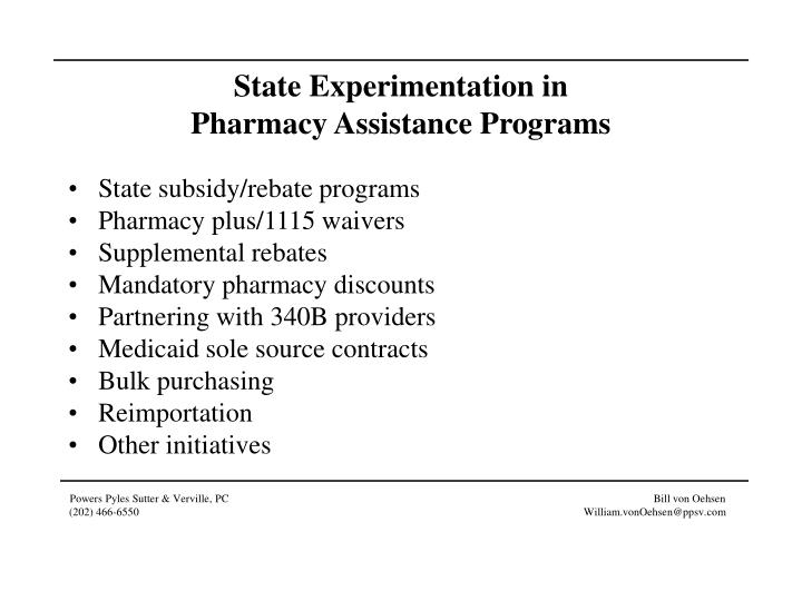 State Experimentation in