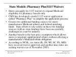state models pharmacy plus 1115 waivers