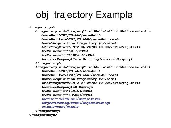 obj_trajectory Example