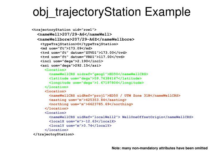 obj_trajectoryStation Example