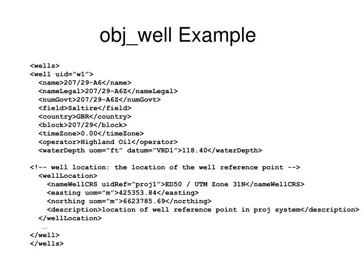 obj_well Example