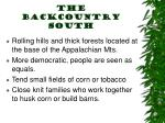 the backcountry south