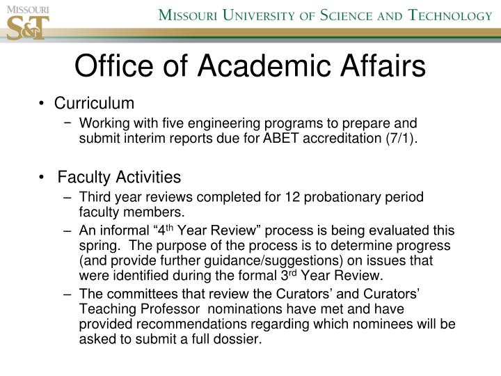 Office of academic affairs1