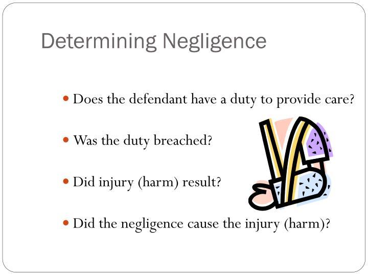 Determining Negligence