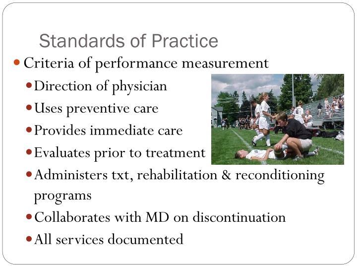 Standards of Practice