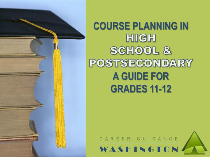 COURSE PLANNING IN