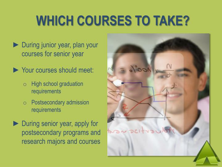 WHICH COURSES TO TAKE?
