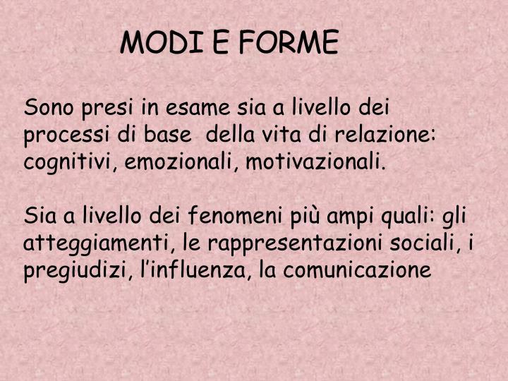 MODI E FORME