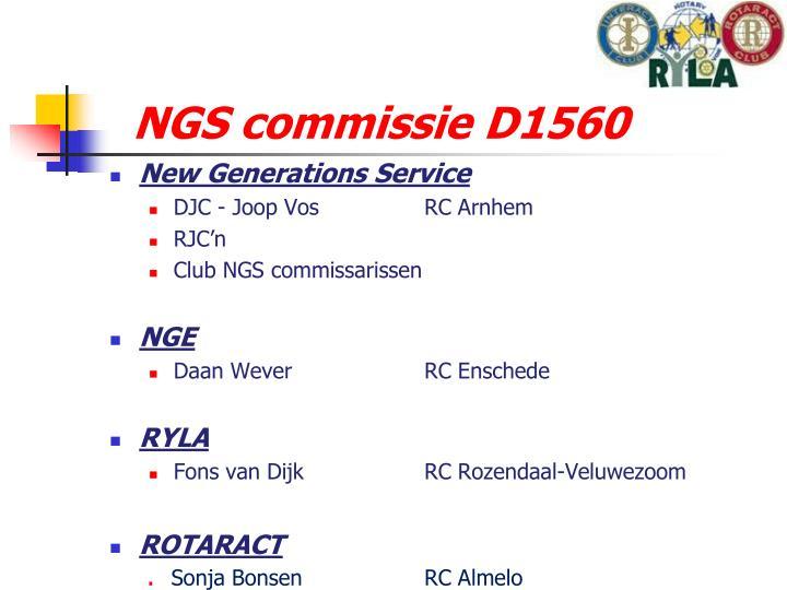 NGS commissie D1560