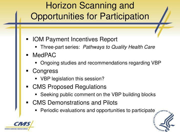 Horizon Scanning and