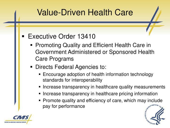 Value-Driven Health Care