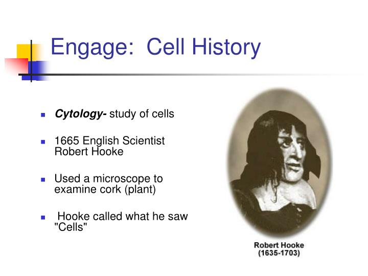 Engage:  Cell History