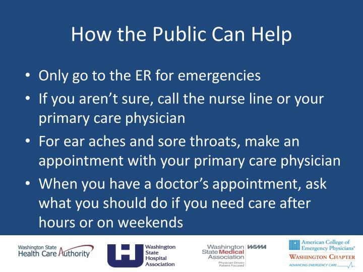 How the Public Can Help
