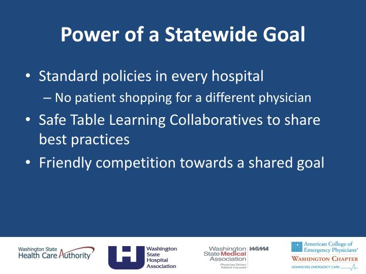 Power of a Statewide Goal