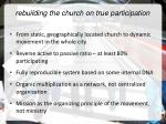 rebuilding the church on true participation
