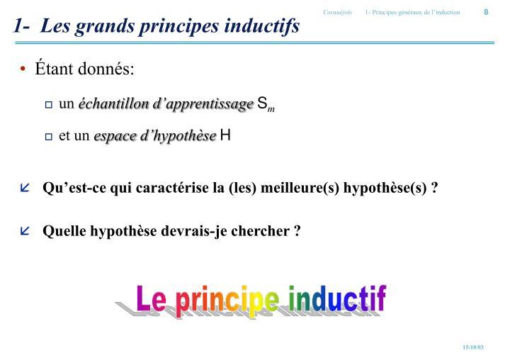 1-  Les grands principes inductifs