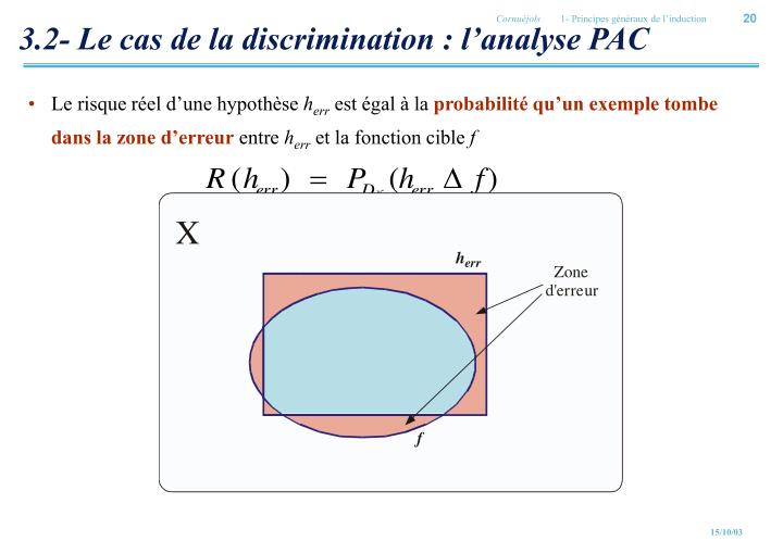 3.2- Le cas de la discrimination : l'analyse PAC