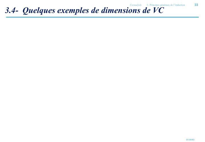 3.4-  Quelques exemples de dimensions de VC