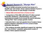 recent research mungo man