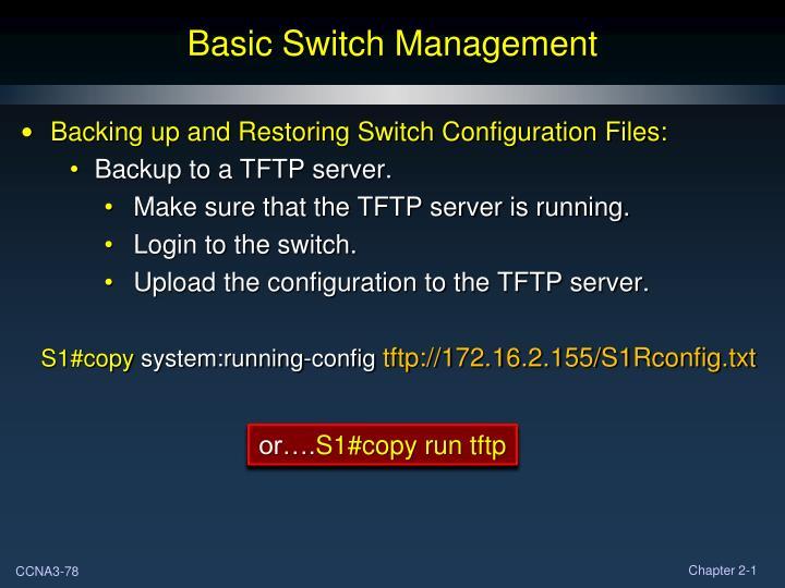 Basic Switch Management