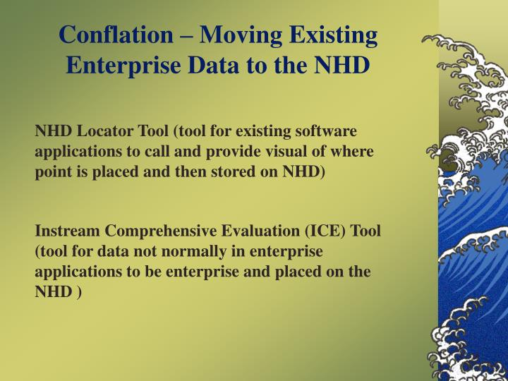Conflation – Moving Existing Enterprise Data to the NHD