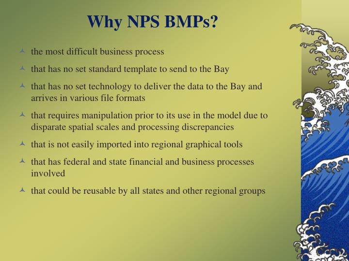 Why NPS BMPs?