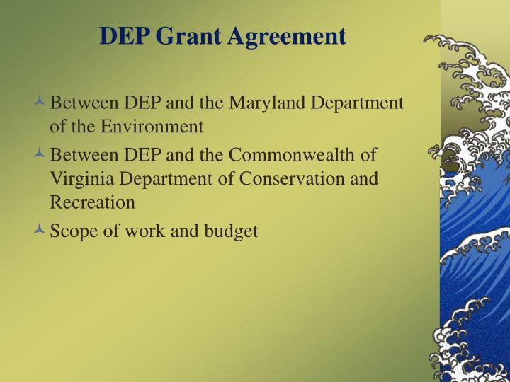 DEP Grant Agreement