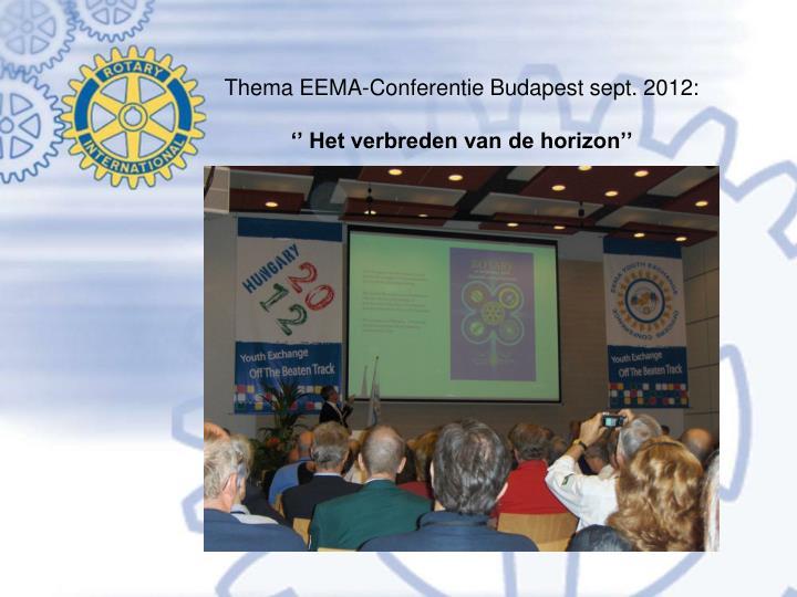 Thema EEMA-Conferentie Budapest sept. 2012:
