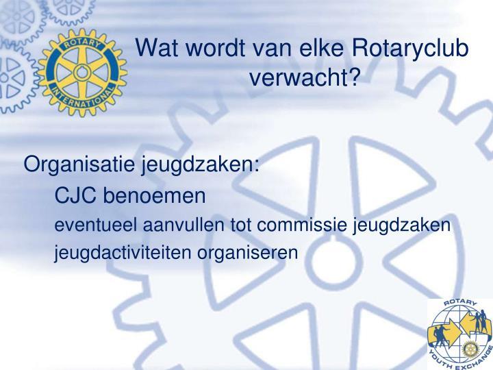 Wat wordt van elke Rotaryclub