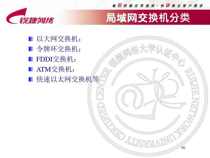 局域网交换机分类
