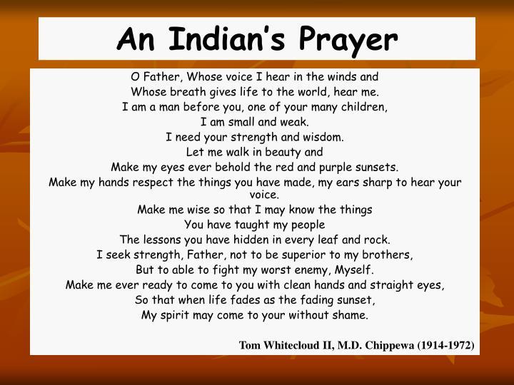 An Indian's Prayer