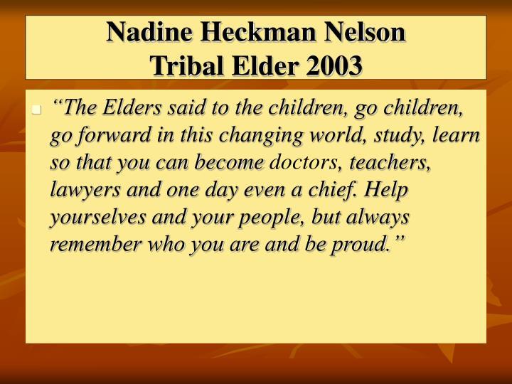 Nadine Heckman Nelson