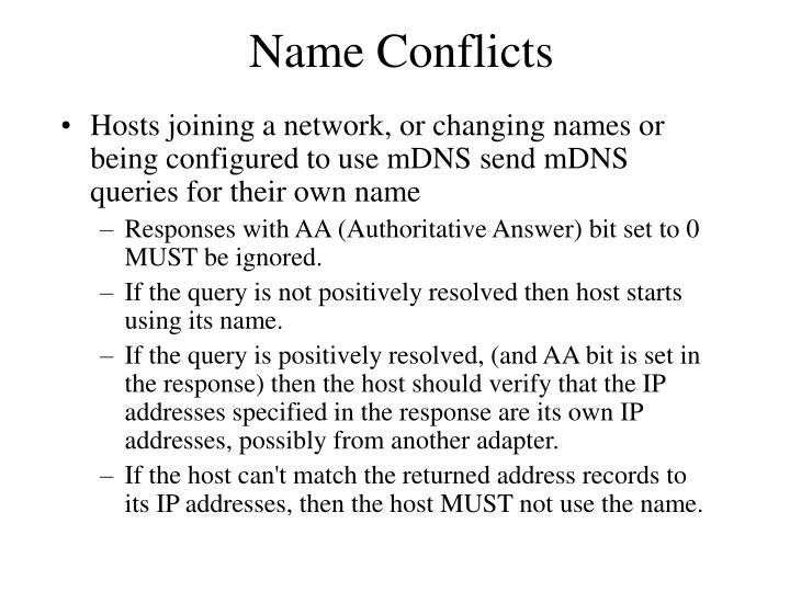 Name Conflicts