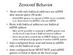 zeroconf behavior